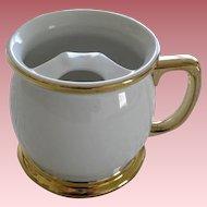 Vintage Porcelain Mustache Mug Gold Leaf
