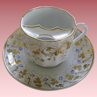 Vintage Porcelain Mustache Cup And Saucer Nice Detail