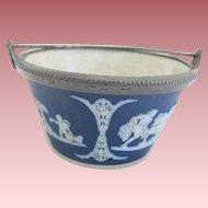 Vintage Wedgwood Jasperware Miniature Handled Bucket