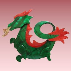 Dragon Pin By French Designer Lea Stein