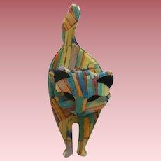 Attila The Cat Pin By French Designer Lea Stein