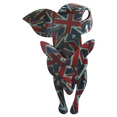Famous Fox Pin By French Designer Lea Stein With Union Jack Design