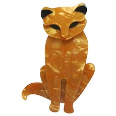 Sacha The Cat Pin By French Designer Lea Stein