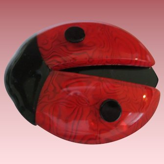 Ladybug Pin By French Designer Lea Stein