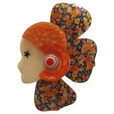 Corolle Deco Petal Head Pin By French Designer Lea Stein