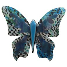 Large Butterfly Pin By French Designer Lea Stein