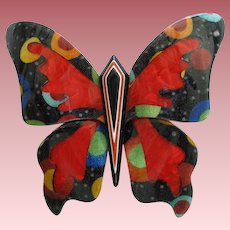 Butterfly Pin By French Designer Lea Stein
