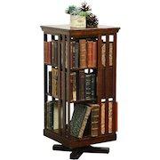 Danner Revolving Signed Antique Spinning or Revolving Chairside Bookcase