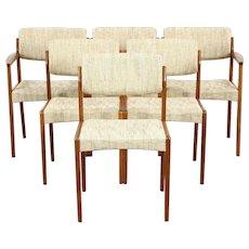 Set of 6 Midcentury Danish Modern Teak Dining Chairs, Signed Bramin, Denmark