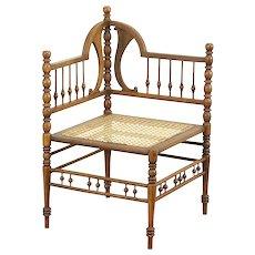 Victorian 1890 Antique Stick & Ball Corner Chair