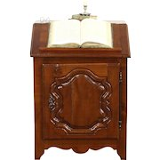 Country French Carved Fruitwood Antique 1790 Bible Stand or Folio Desk