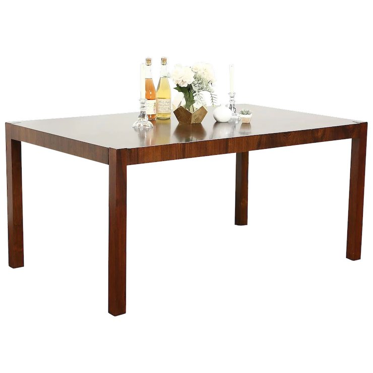 Rosewood Midcentury Modern Vintage Dining Table Signed Index By Drexel