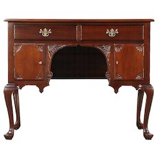 Georgian Design 1920's Mahogany Lowboy, Server or Hall Console Table