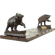 Black Forest Adjustable Book Shelf, Hand Carved Bears