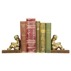 Pair of Chinese Scholar Statue Vintage Bookends