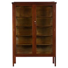 Mahogany 1910 Antique China or Curio Display Cabinet