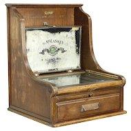 McCaskey File, 1900 Antique Oak Patented Countertop Collector Cabinet