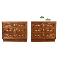 Pair of 1960's Vintage Cherry Chests or Nightstands, Signed Henredon