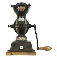 Black Iron Antique Coffee Mill Grinder, All Original, Enterprise of Philadelphia