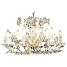 Chandelier with 14 Candles & Cut European Crystal Prisms