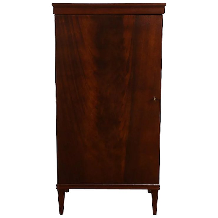 Mahogany 1920 Antique Music Cabinet, Nightstand or Pedestal - Mahogany 1920 Antique Music Cabinet, Nightstand Or Pedestal : Harp