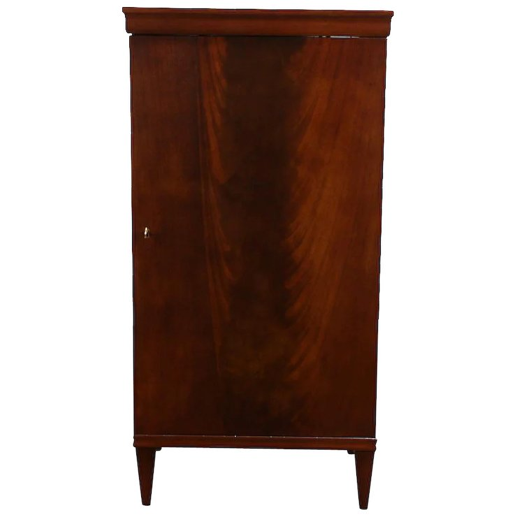 Mahogany 1920 Antique Music Cabinet, Pedestal or Nightstand - Mahogany 1920 Antique Music Cabinet, Pedestal Or Nightstand : Harp