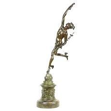 Mercury Messenger of the Gods Statue Antique 1890's Sculpture after Giambologna