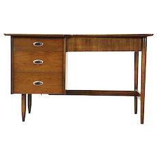 Midcentury Modern 1960 Vintage Desk & Chair Set, Signed Hooker