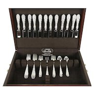 Repousse Kirk Stieff Sterling Silver 4 pc. Place Service for 12, 48 Pcs. + Chest
