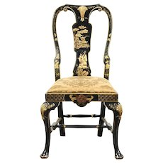 Chinese Style Hand Painted Vintage Desk or Side Chair