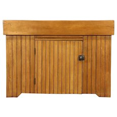 Country Pine 1875 Kitchen Pantry Antique Dry Sink, Wainscoting Base