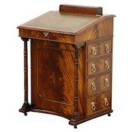 Davenport or Ship Captain Vintage Desk Signed Reprodux, Funnell of England