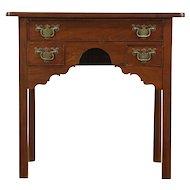 Georgian Mid 1800's Antique Mahogany Lowboy or Hall Console Table, England