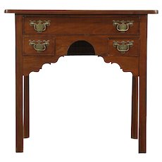 Georgian Mid 1800's Antique Mahogany Lowboy or Hall Console Table, England