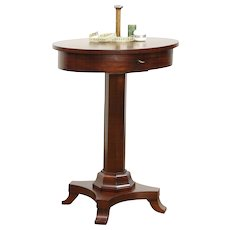 Empire Mahogany Oval Work Table Sewing Stand