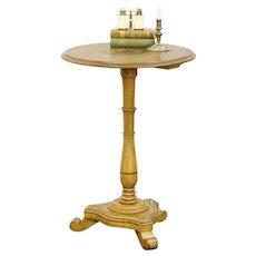Victorian Antique 1870 Cottage Tea or Lamp Table, Original Grain Painting