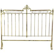 Victorian Style Vintage Solid Brass King Size Headboard