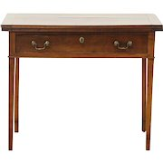 Federal 1780 Antique Cherry Hall Console, Flip Top & Gateleg Opens to Game Table