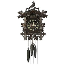Cuckoo Clock, Hand Carved Antique Made in Germany for Sears