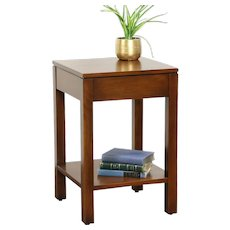 Stickley Signed Cherry Square End or Lamp Table, 2014