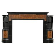 Victorian Antique Architectural Salvage Ebonized Cherry Fireplace Mantel