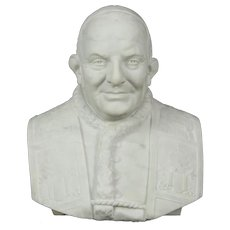 Pope John  XXIII Sculpture, Hand Carved Marble Bust