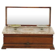Marble & Walnut Antique 1870's Balance Gold or Apothecary Drug Scale