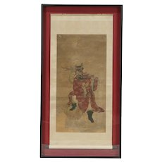 Chinese Antique Painting on Paper & Silk, Shadow Box Frame
