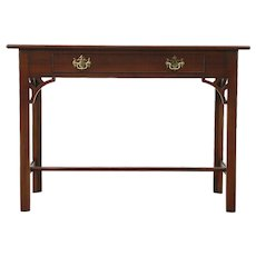 Mahogany Traditional Console Table or Writing Desk Signed Kittinger Williamsburg
