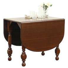Oak Antique 1910 Dropleaf Kitchen or Breakfast Dining Table