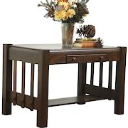Quartersawn Oak Arts and Crafts / Mission Library Table