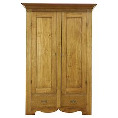 Country 1880 Antique Armoire, Wardrobe or Closet, Pine & Poplar