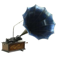 Edison Table Top Victrola with Horn