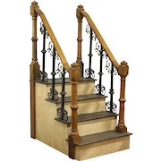 Architectural Salvage Antique Oak & Iron Staircase, England, Photographer Prop